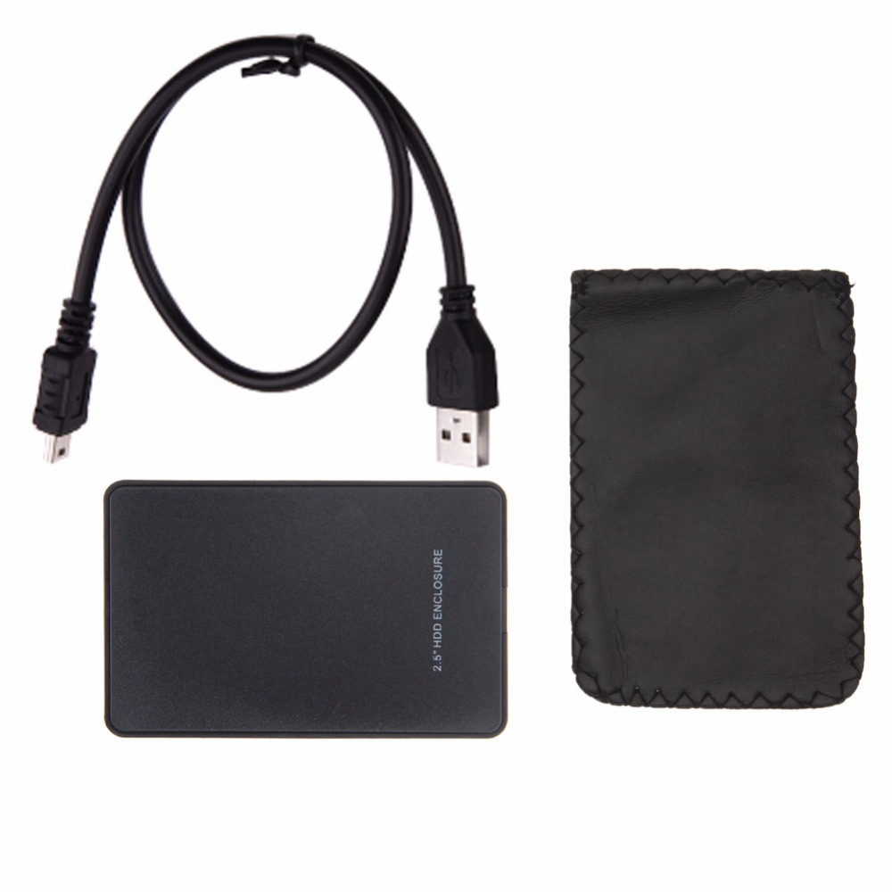 External HDD Enclosure for Hard Disk USB2.0 Sata Durable Portable Case 2.5 Inch Hdd Hard Drive Case High Quality Black HDD Box
