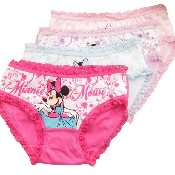 6pcs Lot New Arrive Children's Briefs Cartoon Designs Kids Underwear Cotton Baby Girl Underwears   Panties   Child's Shorts ZL15