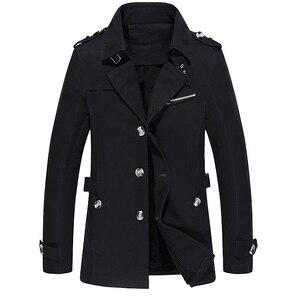 Image 4 - Мужской приталенный Тренч BOLUBAO, однотонный Повседневный Тренч, куртка на осень и зиму