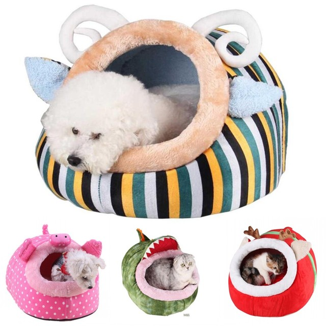 3544cd299b1b US $25.49 15% OFF|Petalk Comfortable Pet Cat House Dog Bed Puppy Dog House  Cute Animal Kennel Nest Dog Cat Bed S M L-in Houses, Kennels & Pens from ...