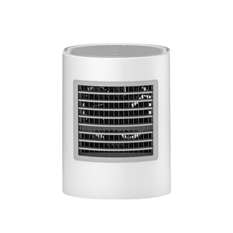 Ovale 7 couleur lumière climatiseur ventilateurs de refroidissement climatisation Portable ventilateurs de bureau refroidisseur d'air humidificateur refroidir maison