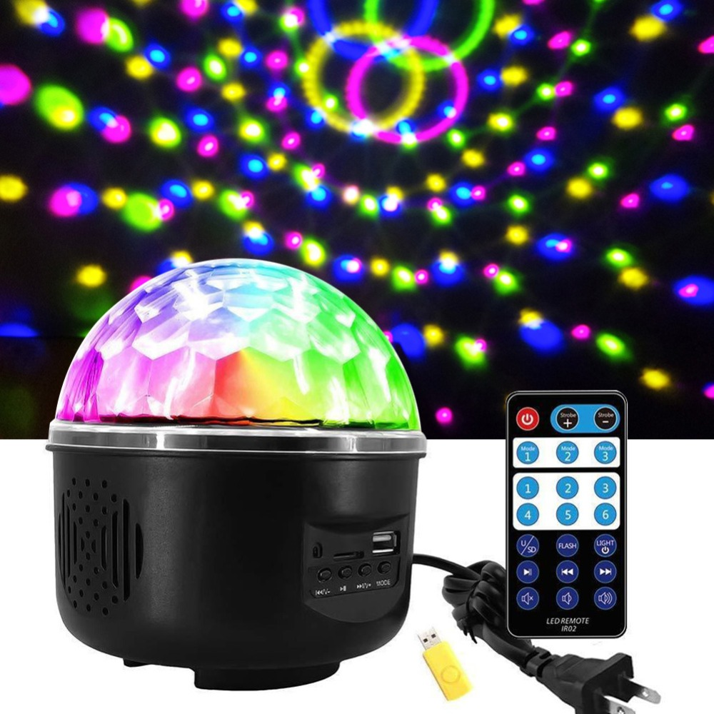 New Style RGB Crystal Magic Ball Sound Activated Disco Ball Stage Lamp Christmas Laser Projector Dj Club Party Light Show#290023New Style RGB Crystal Magic Ball Sound Activated Disco Ball Stage Lamp Christmas Laser Projector Dj Club Party Light Show#290023