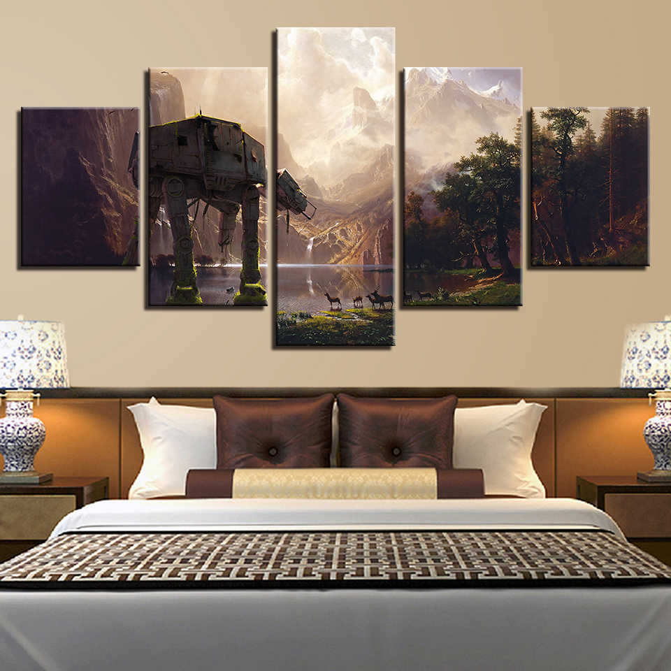 Canvas Painting Wall Art HD Prints 5 Pieces Star Wars Movie Home Decor Modular Room Background Pictures Modern Artwork Poster