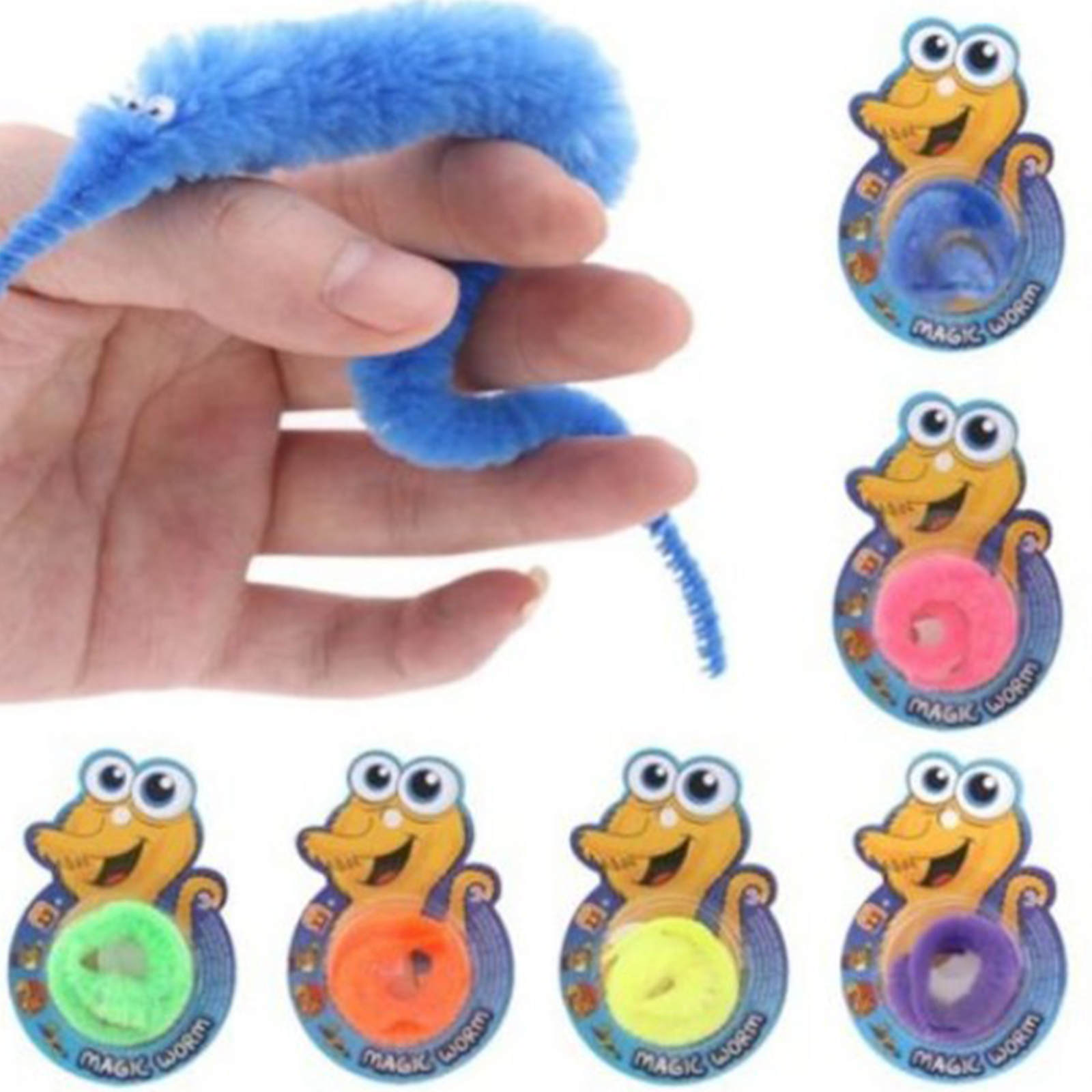 US $0 11 OFF 1Pcs OPP Bag Packing Magic Trick Twisty Fuzzy Worm Kids Cartoon Animals Toys Bile Pussy Mr Fuzzy Dolls Magic Tricks AliExpress