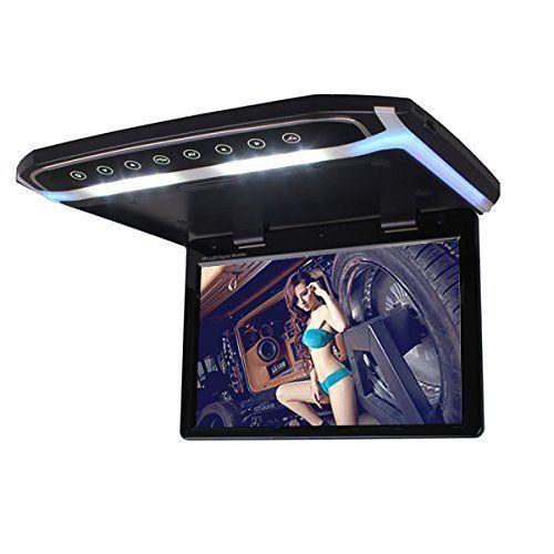 12,1 дюймовый HD крыше автомобиля установлен откидной потолочный монитор видео плеер 1080 P два видео Вход HDMI с пульт дистанционного управления