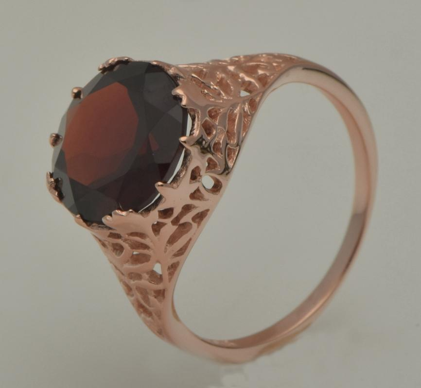 In 2015, the latest vogue romantic princess style Luxury rose gold pomegranate stone 925 silver gem rings