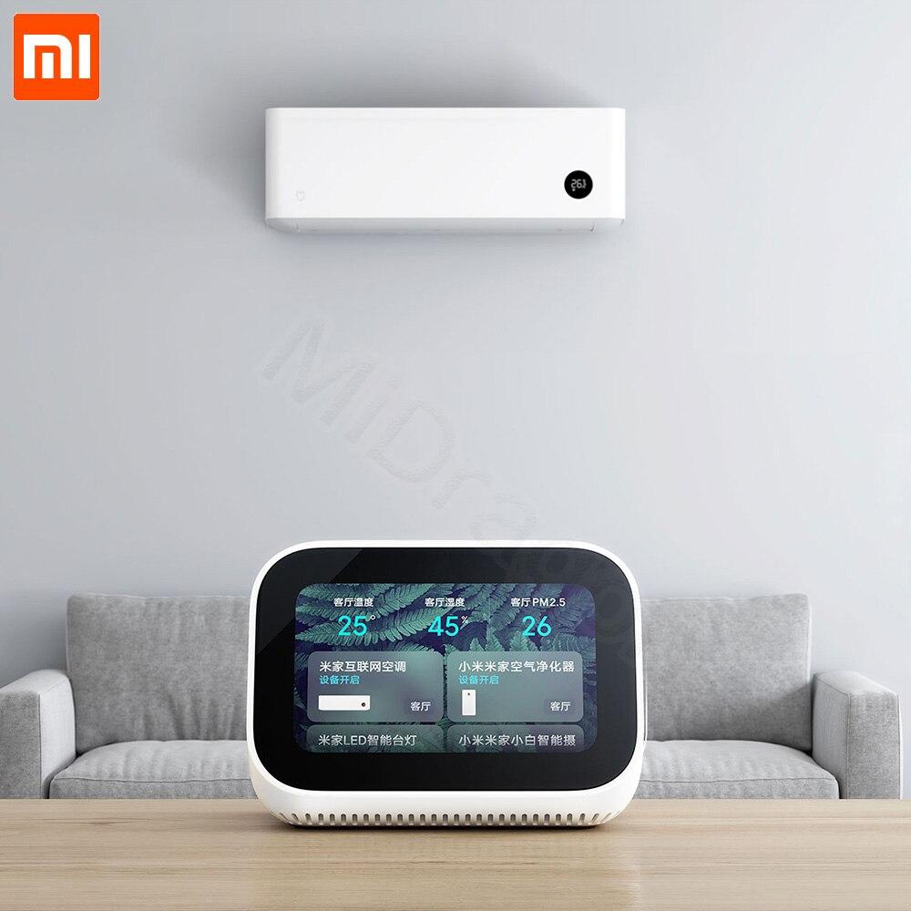 Original Xiaomi AI Touch Screen Bluetooth 5 0 Speaker Digital Display Alarm Clock WiFi Smart Connection