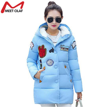 Winter Coat And Jacket Women 2017 Down Cotton Wadded Casual Winter Jackets Plus Size Hooded  Long Parka Womens Coats YL017