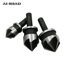 3Pcs 90 Degree 1/4 Hex Shank Countersink Drill Bit 5 Flute 12-19mm Woodworking Chamfer Counter Sink Chamfering Debur Tool Set bore for wood tools countersink drill bit set counter woodworking bits boring chamfer chamfering cutter 90 degree 6pcs set