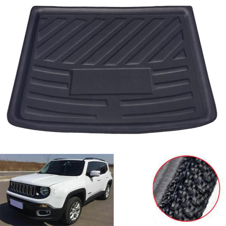 Car Rear Back Luggage Tray Trunk Cargo Liner Floor Mat Pad Cover Accessories Fit For Jeep Renegade 2014-2018 Car Styling Cover for suzuki sx4 s cross 2013 2014 automobile chrome rear door trunk lid cover trim car styling stickers accessories
