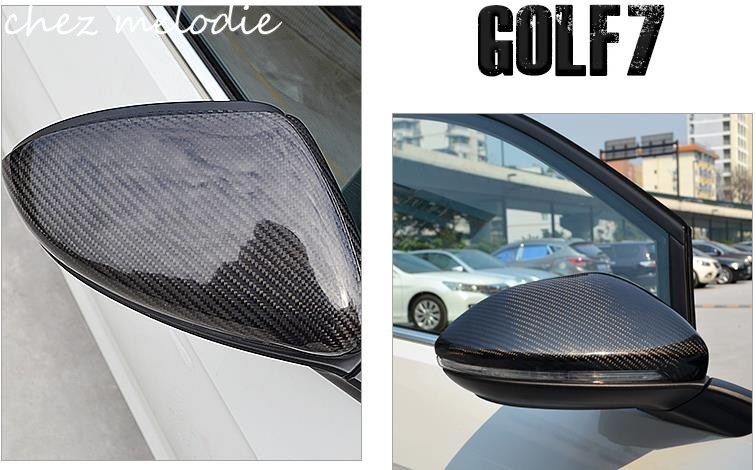 Top quality all real Carbon Fiber Car outside exterior rearview Mirror Caps cover For Volkswagen GOLF 7 MK7/GTI/R/Rline наклейки dealnium 3d r rline 30