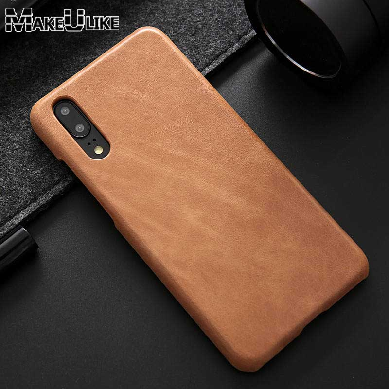 MAKEULIKE For Huawei P20 Pro Genuine Leather Case Frosted Back