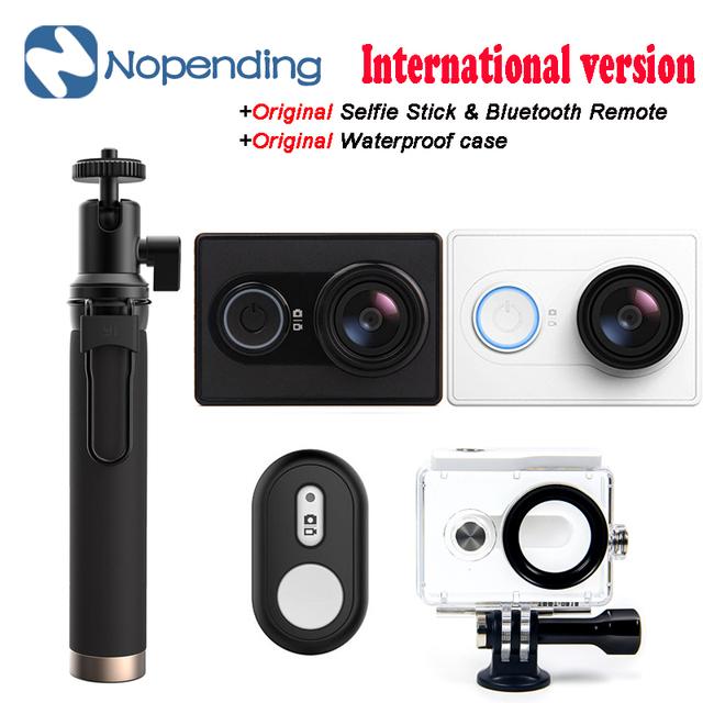 Nova versão internacional original xiaomi yi xiaoyi mi 60fps câmera esporte wi-fi ambarella câmera de esportes wi-fi ação filmadoras