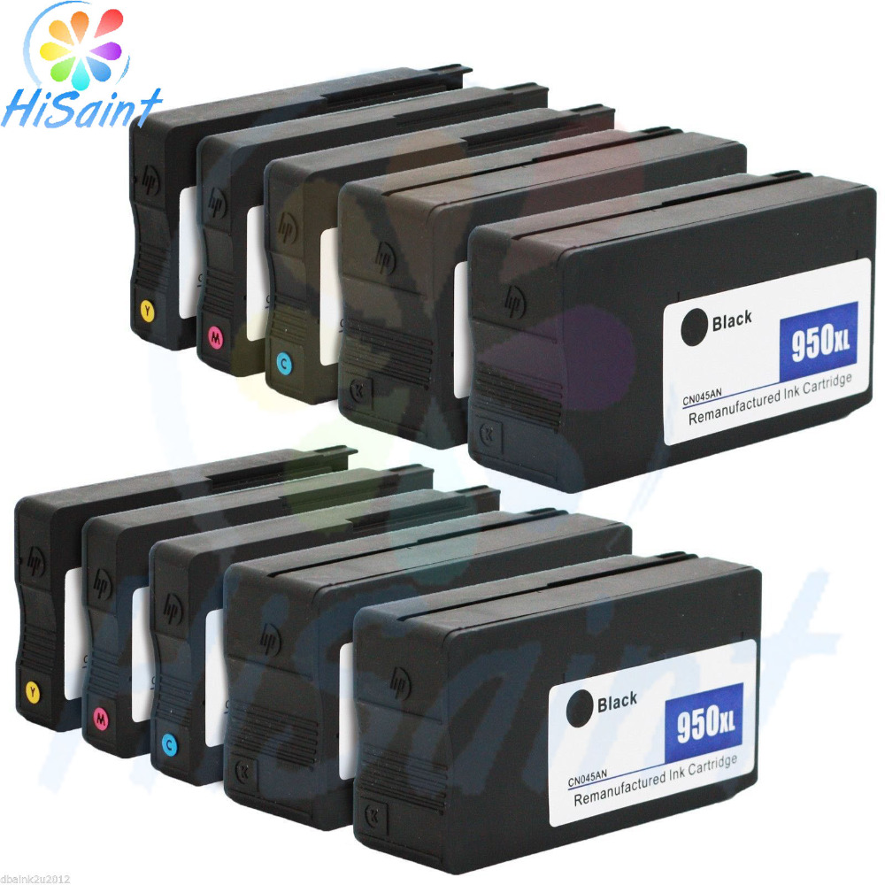 free shipping 2018 New [Hisaint ink] 10 Pack New for HP 950XL 951XL Ink for Officejet Pro 8610 8600 Plus Printer Cartridge the price of hisaint hot compatible toner cartridge replacement for hp cc530a 304a black 2 pack special counter free shipping page 1