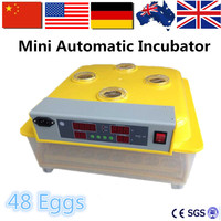 New Design Automatic Egg Incubator 48 Holdings Digital Poultry Incubator For Chicken Duck Turkey Eggs Hatching