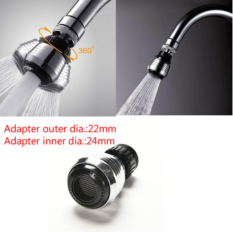 360°Rotate Swivel Faucet Nozzle Filter Water Saving Tap Diffuser Kitchen Tool