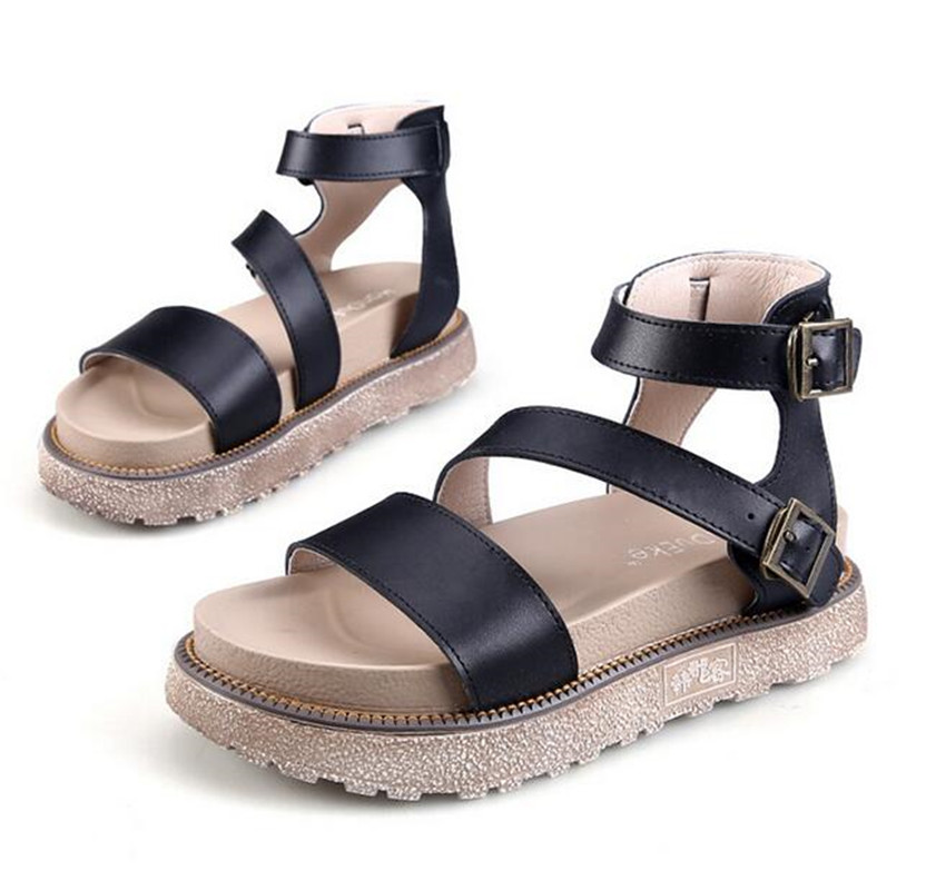 2017 summer casual shoes strap buckles ladies women platform peep-toe leather sandals comfortable Gladiator Beach Cork plus size phyanic 2017 gladiator sandals gold silver shoes woman summer platform wedges glitters creepers casual women shoes phy3323