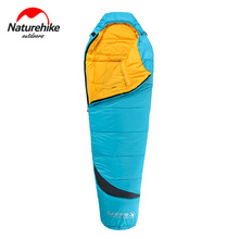 Naturehike Outdoor Camping Cotton Sleeping Bag Ultralight Portable Waterproof Mummy Splicing Single Lazy Bag