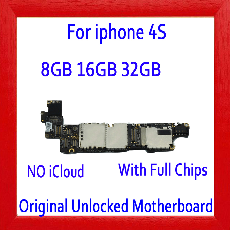 100% Original unlocked for iphone 4S Motherboard with Full Chips,for iphone 4S Mainboard with IOS System,8GB / 16GB / 32GB100% Original unlocked for iphone 4S Motherboard with Full Chips,for iphone 4S Mainboard with IOS System,8GB / 16GB / 32GB