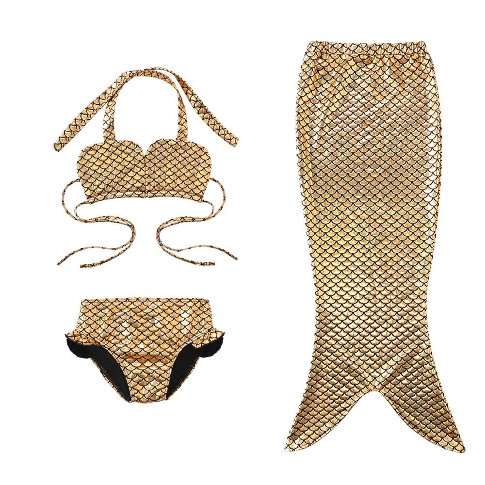 3-12Y Mädchen Meerjungfrau Schwanz Prinzessin Kleid Bikini Set Split ...