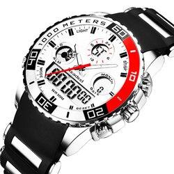 b28c16c1ba0 Top Marca De Luxo Relógios Homens de Borracha Relógio de Quartzo dos homens  LEVOU Digital Homem
