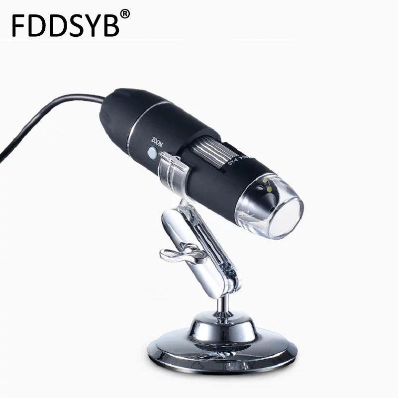Mega Pixels 500X 1000X 1600X 8 LED Digital USB Microscope Motherboard Repair Magnifier Electronic Stereo USB Endoscope Camera