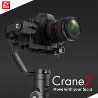 FREE DHL Zhiyun Crane 2 3 Axis Gimbal Handheld Stabilizer 3 2KG Follow Focus Dual Handle
