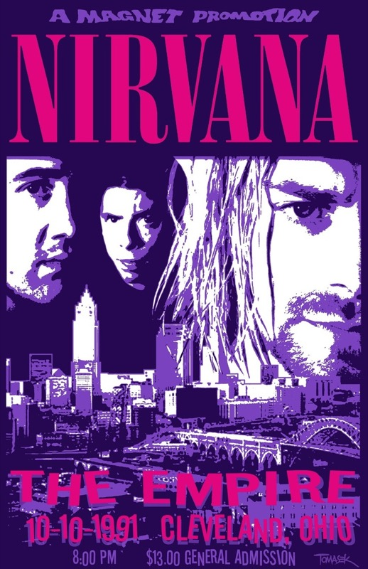 Vintage Nirvana Concert Posters Playing Guitar Retro Poster Canvas Painting DIY Wall Paper Home Decor Gift In Stickers From Garden On