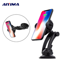 AIYIMA Car Mount Qi Wireless Charger For iPhone XS Max X XR 8 Automatic Induction Phone Holder Samsung Note 9 S9 S8