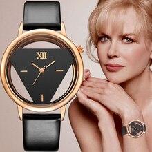 2017 GEEKTHINK Marque Unique Design Quartz Analogique Creux Style Montre-Bracelet Femme de mode dames Occasionnels montre Femme Filles horloge