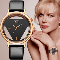 2016 GEEKTHINK Brand Unique Design Quartz Analog Hollow Style WristWatch Woman Fashion Ladies Casual Watch Female