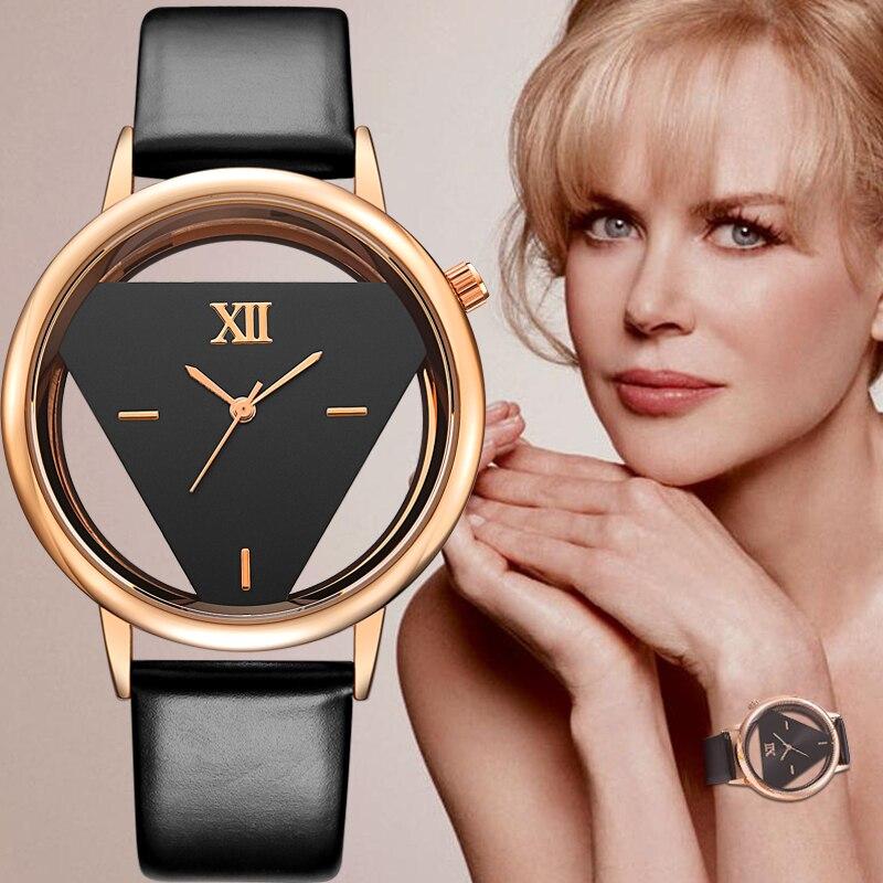 2017 Geekthink Marke Einzigartige Design Quarz Analog Hohl Stil Armbanduhr Frau Mode Damen Beiläufige Uhr Weibliche Mädchen Uhr