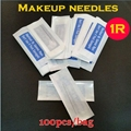 100pcs Disposable nozzles 1R traditional makeup 100pcs needle 1r tips Tattoo Permanent makeup needle tips plastic needle gift