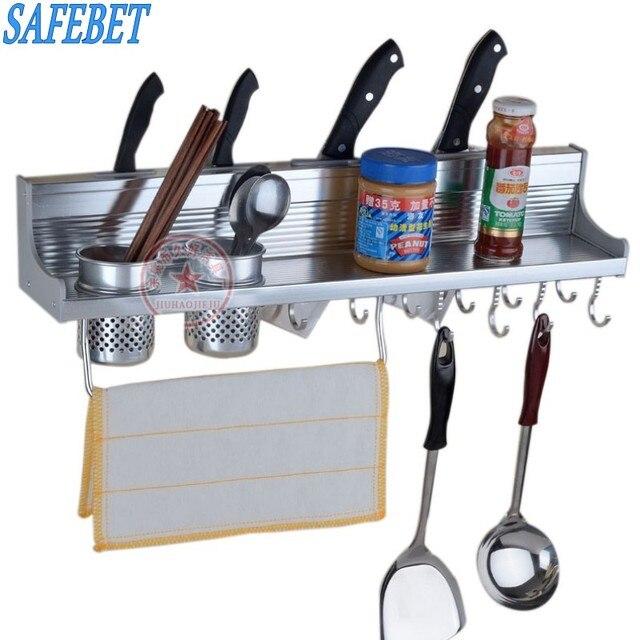safebet brand metal kitchen shelf creative double cooking utensil