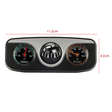 3 in1 Guide Ball Auto Boat Vehicles Navigation Compass Thermometer Hygrometer Decoration Ornaments Car Interior Accessories