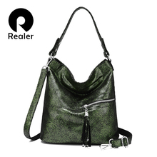 REALER handbags for women genuine leather designer crossbody