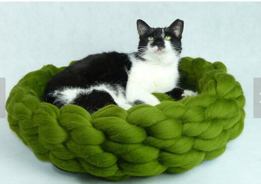 2018 New Hand Woven Crochet Pet Bed Dog House Dog Beds For Small