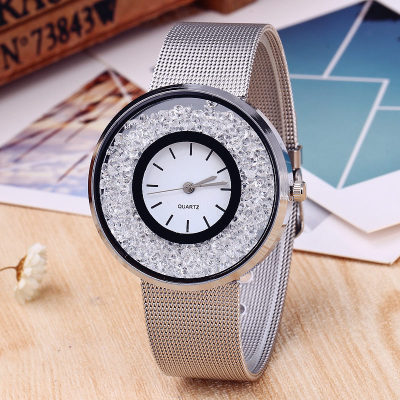 Ladies Silver Stainless Steel Quartz Watch PINBO Luxury Gold Diamond Women Watches Brand Dress Wristwatch Relogio Clock Women