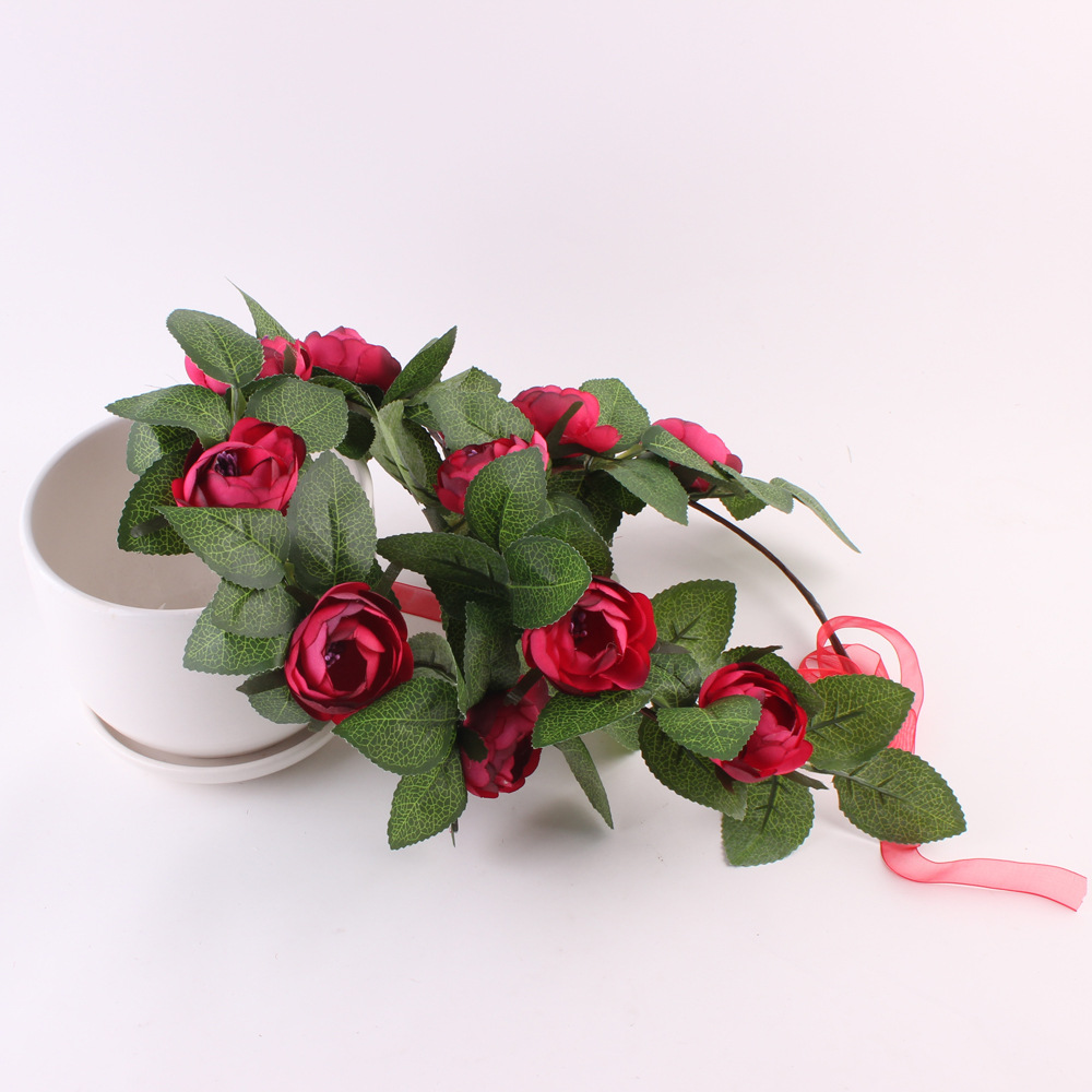 Girls Headbands Mom And Me Rose Flower Wreath Matching Floral Crown