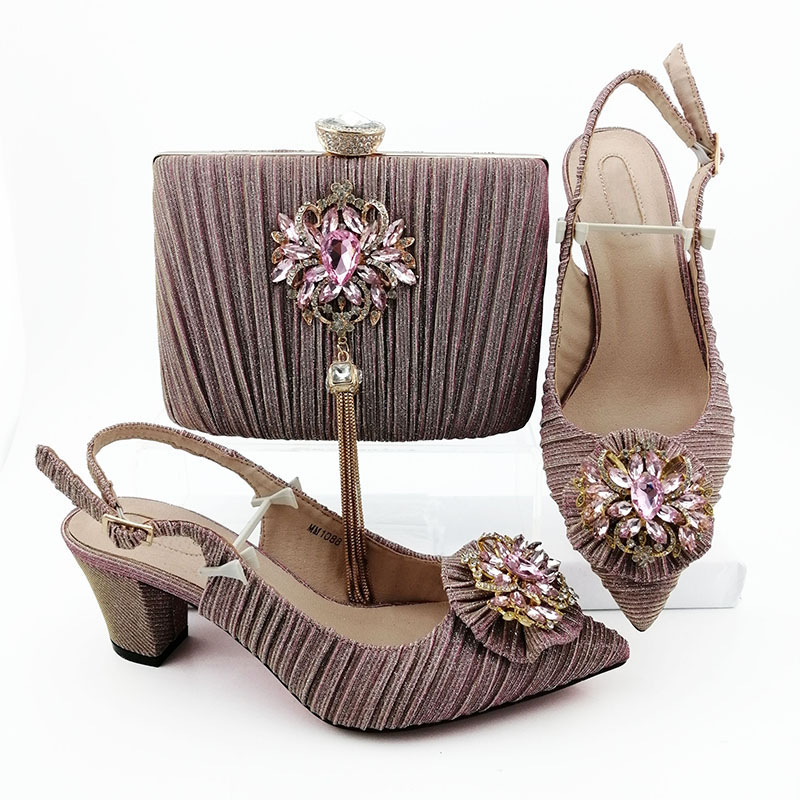 Hot Selling African Shoes And Bag Set Italian Design Matching Shoes And Bag Set Nigerian For