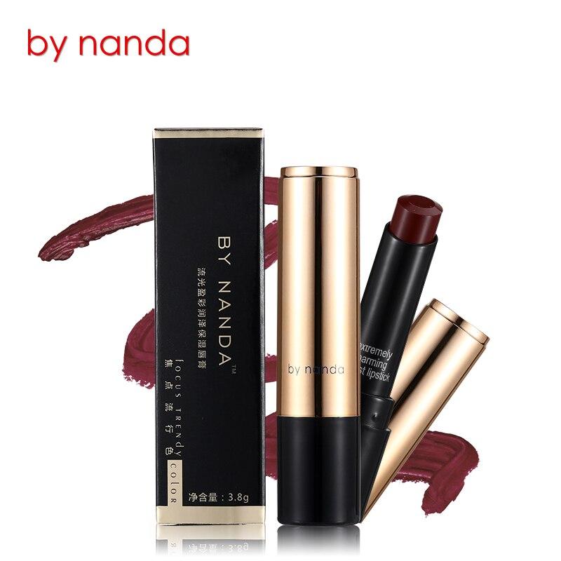 1pcs NANDA Lip Makeup Waterproof Cosmetic Batom Long Lasting Moisturizing Ruby Woo Lip Make Up Rouge Lipgloss Matte Lipstick