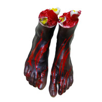 Halloween Hot Sale Horror Props Bloody Foot Haunted House Party Decoration For Halloween Decoration