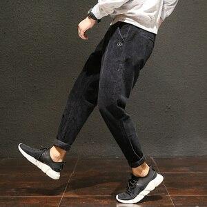 Image 5 - Pantalones de pana informales de talla grande para hombre, pantalones bombachos holgados de algodón, bolsillos laterales grandes, pantalón de Hip Hop