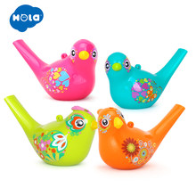 1PC Colorful Drawing Water Bird Whistle Bathtime Musical Toy for Kid Early Learning Educational Toys Children Xmas Gifts(China)