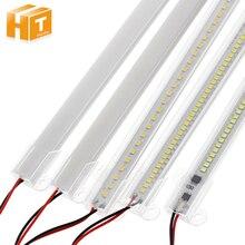 Светодиодная лампа AC220V высокой яркости 8 Вт 50 см 30 см 72 светодиода 2835 Светодиодная жесткая лента энергосберегающие светодиодные флуоресцентные трубки 5 шт./лот