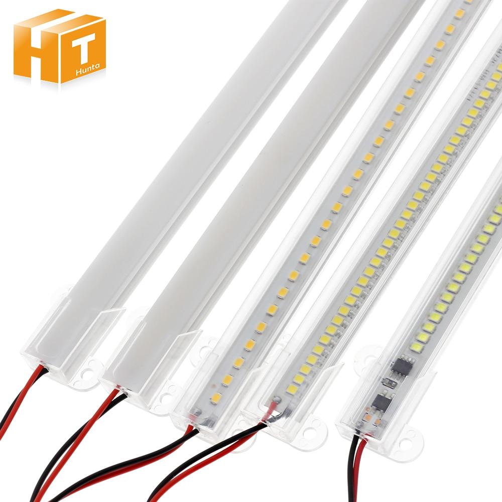 LED בר אור AC220V בהירות גבוהה 8W 50cm 30cm 72 נוריות 2835 LED רצועה נוקשה חיסכון באנרגיה LED צינורות ניאון 5 יח'\חבילה.