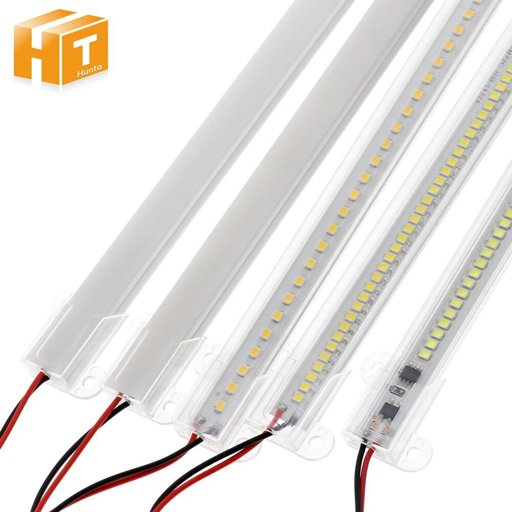 LED bar ışığı AC220V yüksek parlaklık 8W 50cm 30cm 72LEDs 2835 LED sert şerit enerji tasarrufu LED floresan tüpler 5 adet/grup.