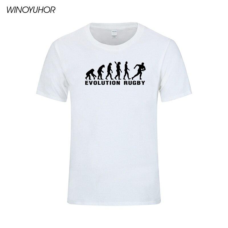 Evolución Rugby Impreso Algodón Camisetas Hombre Casual Manga Corta - Ropa de hombre - foto 4