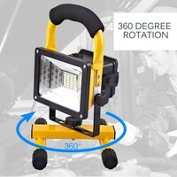 Rechargeable Spotlight 30W Flood Light Portable Work Lamp Movable Outdoor Camping Light Waterproof Lamp