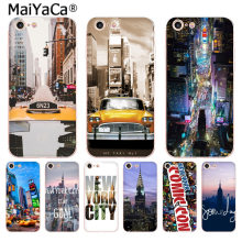 Táxi MaiYaCa New York Times Square Moda phone Case para Apple iphone 11 pro 8 7 66S Plus X 5S SE XR XS XS MAX(China)